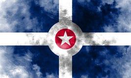 Indianapolis city smoke flag, Indiana State, United States Of Am. Erica Stock Image