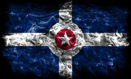 Indianapolis city smoke flag, Indiana State, United States Of Am. Erica Royalty Free Stock Photos