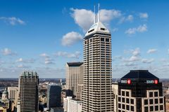 Indianapolis - Circa January 2019: Indianapolis Downtown Skyline on a Sunny Day I royalty free stock photo