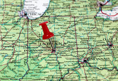 Indianapolis en los E.E.U.U. Fotografía de archivo