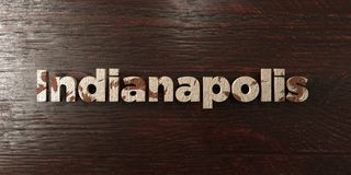 Indianapolis - grungy wooden headline on Maple  - 3D rendered royalty free stock image Stock Photos