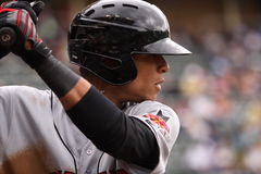 Indianapolis Indiërs outfielder Gorkys Hernandez Stock Fotografie