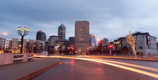 Indianapolis Indiana Capital City Marion County Downtown Skyline Royalty Free Stock Images