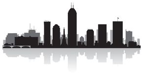 Indianapolis Indiana city skyline silhouette. Indianapolis Indiana USA city skyline silhouette Background vector illustration Royalty Free Stock Photos