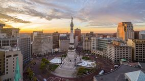 Indianapolis, Indiana, Cityscape van de V.S. stock video
