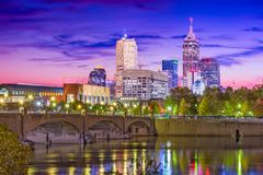 Indianapolis, Indiana, los E.E.U.U. imagenes de archivo
