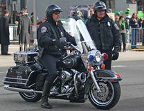 Indianapolis Metropolitan Police with Motorcycles Royalty Free Stock Photos