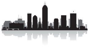 Indianapolis Indiana miasta linii horyzontu sylwetka ilustracji