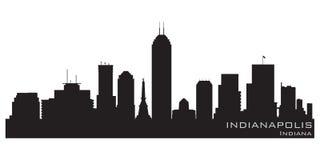 Indianapolis, Indiana miasto linia horyzontu Szczegółowa wektorowa sylwetka ilustracja wektor