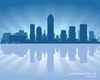 Indianapolis, Indiana miasto linii horyzontu sylwetka ilustracja wektor