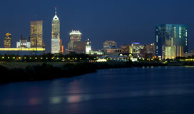 Indianapolis, Indiana (nacht) Stock Foto