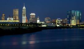 Indianapolis, Indiana (nuit) Photo stock