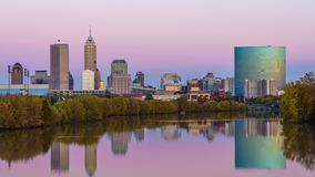 Indianapolis, Indiana, orizzonte di U.S.A. archivi video