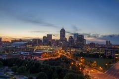 Indianapolis Indiana Przy półmrokiem zdjęcia royalty free