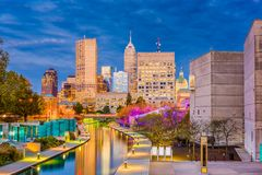 Indianapolis, Indiana, USA Skyline Royalty Free Stock Photo