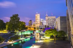 Indianapolis, Indiana, usa-09-13-17, schönes indiannapolis skyli Stockfotos