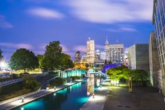 Indianapolis, Indiana, usa-09-13-17, schönes indiannapolis skyli Lizenzfreie Stockbilder