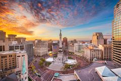 Free Indianapolis, Indiana, USA Skyline Royalty Free Stock Images - 118704059