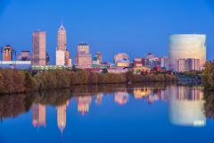 Indianapolis, Indiana, USA Skyline. On the White River royalty free stock photography