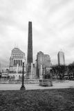 Indianapolis Indianna Downtown City Skyline War Memorial Park Stock Images