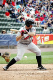 Indianapolis Indians catcher Wyatt Toregas. Looks at a pitch Royalty Free Stock Image