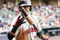 Indianapolis Indians center fielder Gorkys Hernandez Stock Photos