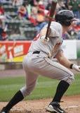 Indianapolis Indians John Bowker. Indianapolis Indians outfielder John Bowker hits a single Stock Image