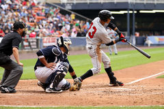 Indianapolis Indians outfielder Gorkys Hernandez. Swings Stock Image