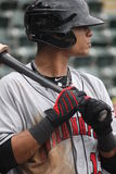 Indianapolis Indians outfielder Gorkys Hernandez. Looks to the mound Stock Photos