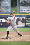 Indianapolis Indians pitcher Daniel Moskos. Throws a pitch Royalty Free Stock Image