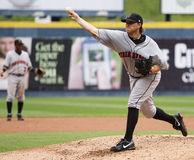 Indianapolis Indians pitcher Sean Gallagher. Throws a pitch Stock Image