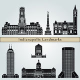 Indianapolis landmarks and monuments Stock Images