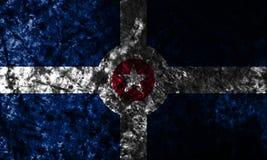 Indianapolis miasta grunge flaga, Indiana stan, Stany Zjednoczone Ameryka Obrazy Royalty Free