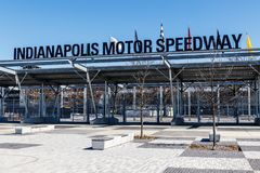 Indianapolis - Circa March 2018: Indianapolis Motor Speedway Gate 1 Entrance. IMS Hosts the Indy 500 VI royalty free stock photos