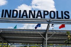 Indianapolis - Circa August 2018: Indianapolis Motor Speedway Gate 1 Entrance. IMS Hosts the Indy 500 and Brickyard Auto Races XV. Indianapolis Motor Speedway stock photography