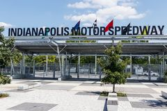 Indianapolis - Circa August 2018: Indianapolis Motor Speedway Gate 1 Entrance. IMS Hosts the Indy 500 and Brickyard Auto Races XVI. Indianapolis Motor Speedway royalty free stock image