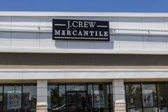 Indianapolis - Około Czerwiec 2017: J Załoga paska centrum handlowego Detaliczna lokacja Sklep sprzedaże byli puszkiem przy JCrew Obraz Royalty Free