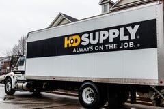 Indianapolis - Około Kwiecień 2018: HD dostawy dystrybutoru ciężarówka HD dostawa jest jeden wielcy przemysłowi dystrybutory III zdjęcie stock