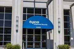 Indianapolis - Około Maj 2017: yco ochrony biura Zintegrowana lokacja Tyco specjalizuje się w elektronicznych ochrona produktach  Obraz Royalty Free
