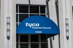 Indianapolis - Około Maj 2017: yco ochrony biura Zintegrowana lokacja Tyco specjalizuje się w elektronicznych ochrona produktach  Zdjęcia Royalty Free