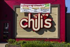 Indianapolis - Około Październik 2016: Chili Prętowa Przypadkowa Łomota restauracja & grill Ja Obraz Stock