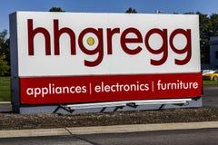 Indianapolis - Około Październik 2016: hhgregg Korporacyjne kwatery główne hhgregg jest detalistą elektronika użytkowa i urządzen zdjęcie stock