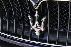 Indianapolis - Około Październik 2016: Maserati Trident logo Maserati jest Luksusowym producentem samochodów Opierającym się w Wł