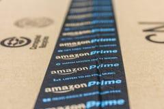 Indianapolis - Około Wrzesień 2016: Amazonka Pierwszorzędny Drobnicowy pakunek amazon com jest najważniejszym onlinym detalistą I Obrazy Royalty Free