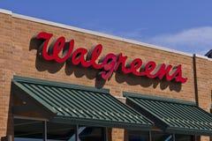 Indianapolis - Około Lipiec 2016: Walgreens handlu detalicznego lokacja Ja Zdjęcia Royalty Free