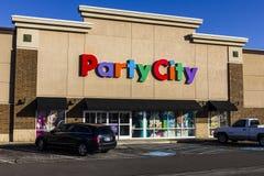 Indianapolis - Około Listopad 2016: Partyjna miasto handlu detalicznego paska centrum handlowego lokacja Partyjny miasto Zapewnia Obrazy Stock