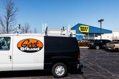 Indianapolis - Około Marzec 2018: Best Buy handlu detalicznego lokacja Best Buy sprzedaje wielkiego szyka nazw firmowych elektron Zdjęcia Stock