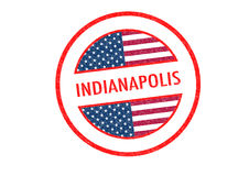 INDIANAPOLIS. Passport-style INDIANAPOLIS rubber stamp over a white background Royalty Free Stock Images