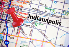 Indianapolis on a Political Map Royalty Free Stock Photos
