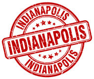 Indianapolis red grunge round vintage stamp Royalty Free Stock Images